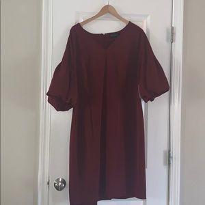 NWT! Maroon shift dress